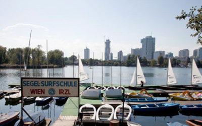 Wenn an der Alten Donau ein Lichtlein brennt